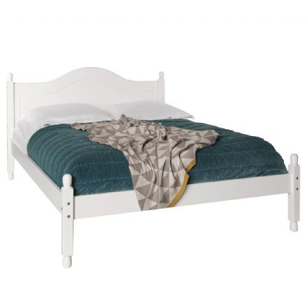 White 4'6 ft Double Bed